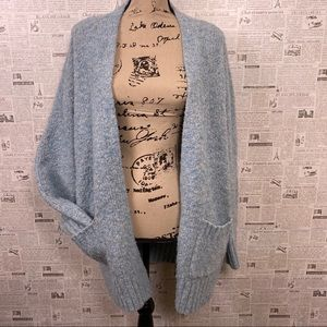 JOHN PAUL RICHARD Blue Boyfriend Cardigan Sweater